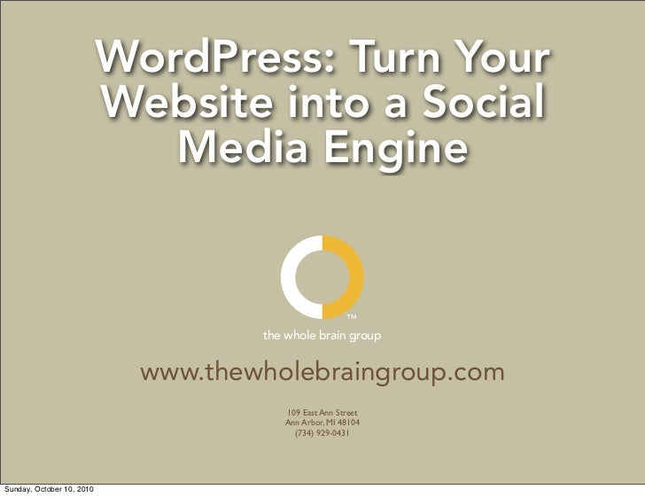 WordPress: Turn Your Website into a Social Media Engine