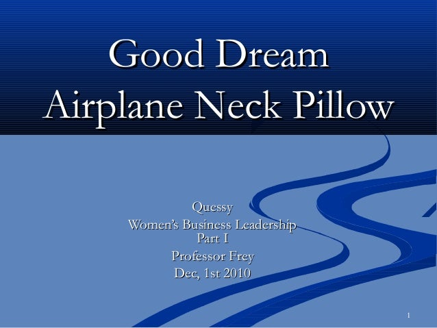 1 Good DreamGood Dream Airplane Neck PillowAirplane Neck Pillow QuessyQuessy Women's Business LeadershipWomen's Business L...