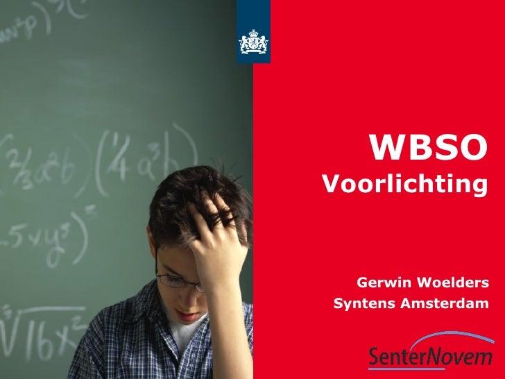 WBSO Voorlichting Gerwin Woelders Syntens Amsterdam