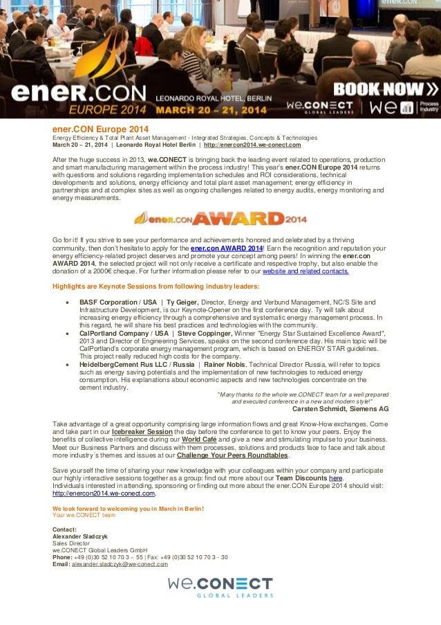 Top Stories - ener.CON Europe 2014