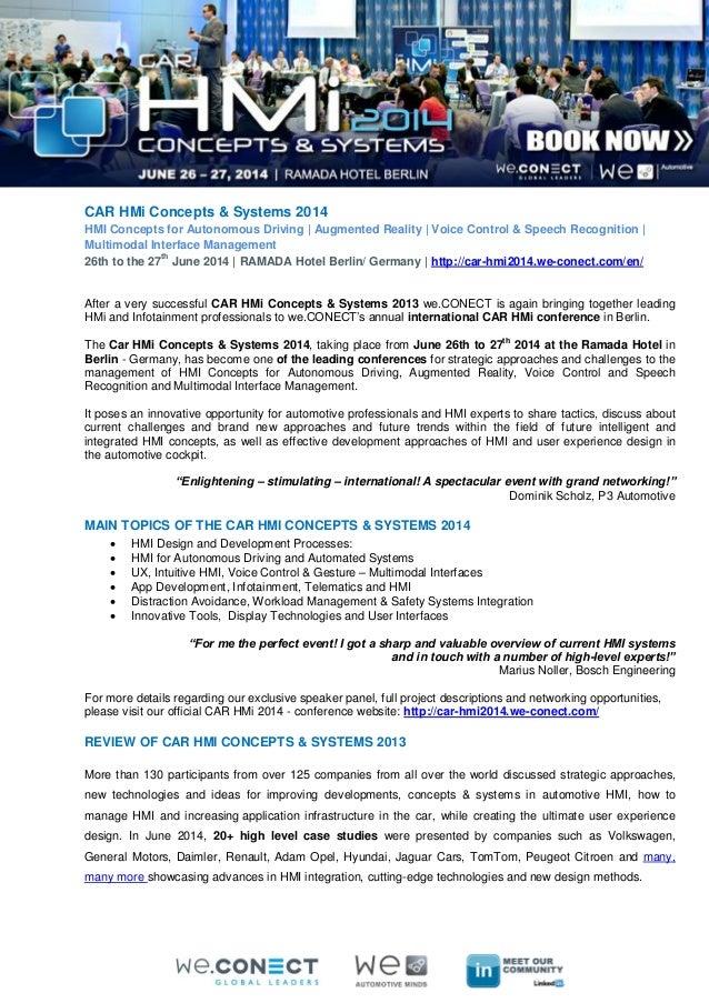 CAR HMi Concepts & Systems 2014 Preview
