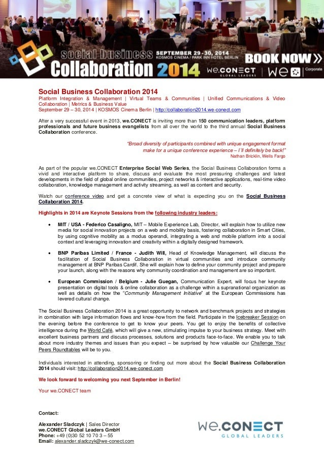 Social Business Collaboration 2014 - Top Stories