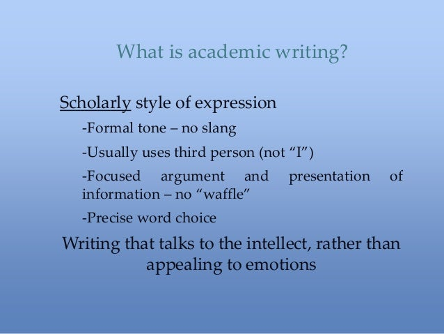 Good academic writing