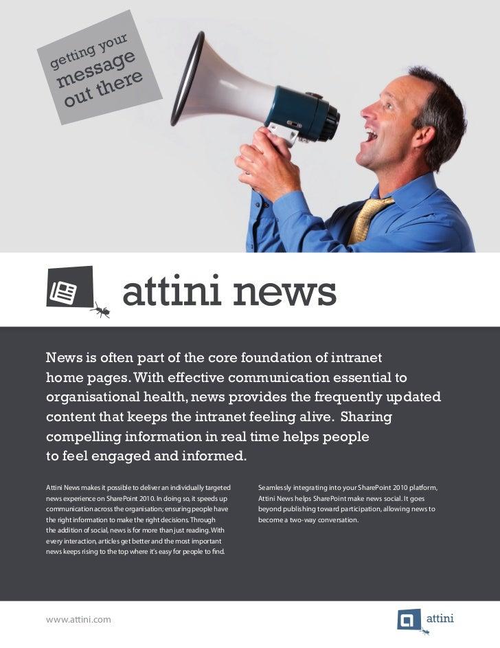 Brochure Attini News
