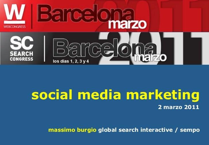 Massimo Burgio Web Congress Barcelona Social Media Marketing Workshop