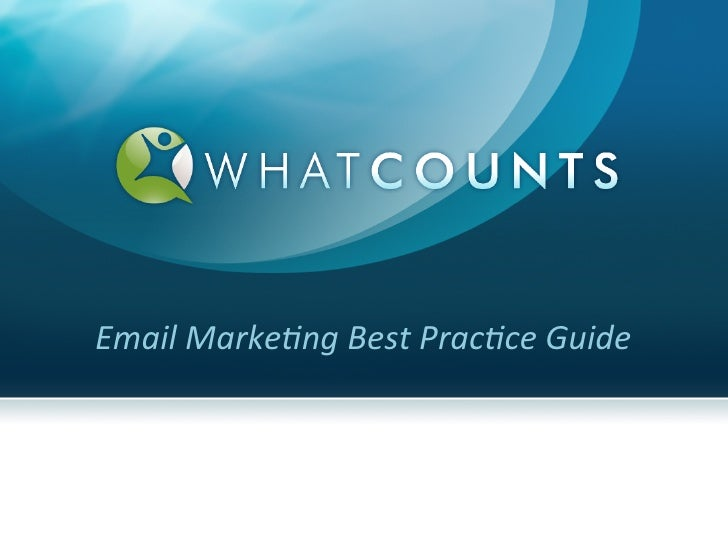 E-mail Marketing Best Practice