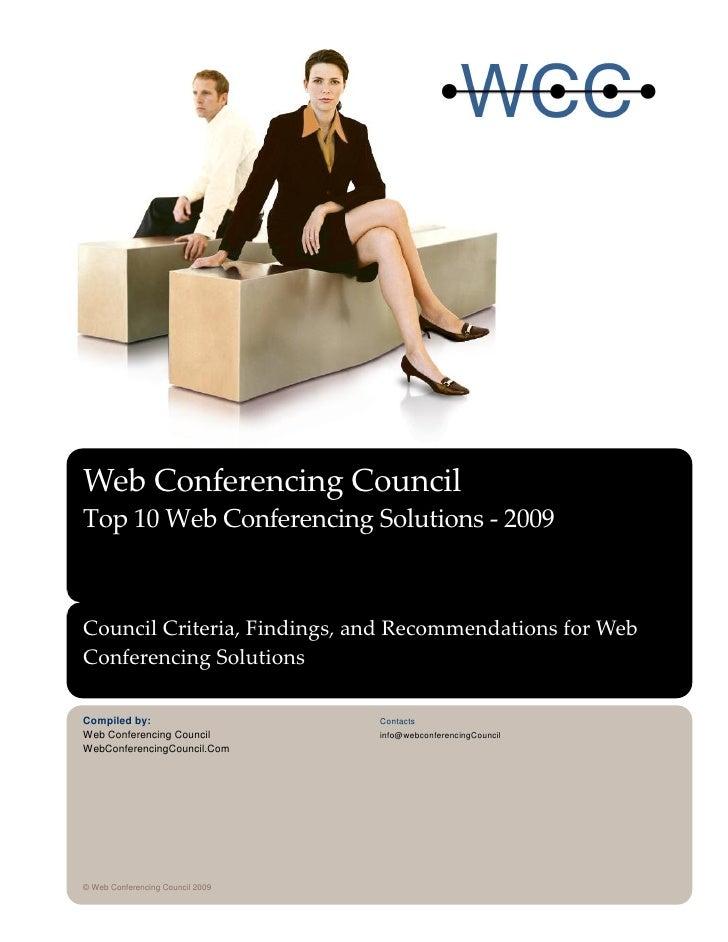 WCC Web Conferencing Solutions Top Ten 2009