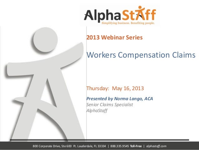 Worker's Comp. Claims Reporting