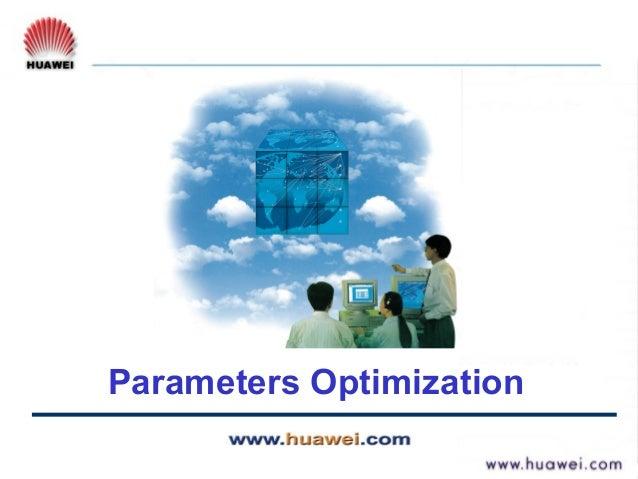 Wcdma rno parameters optimization