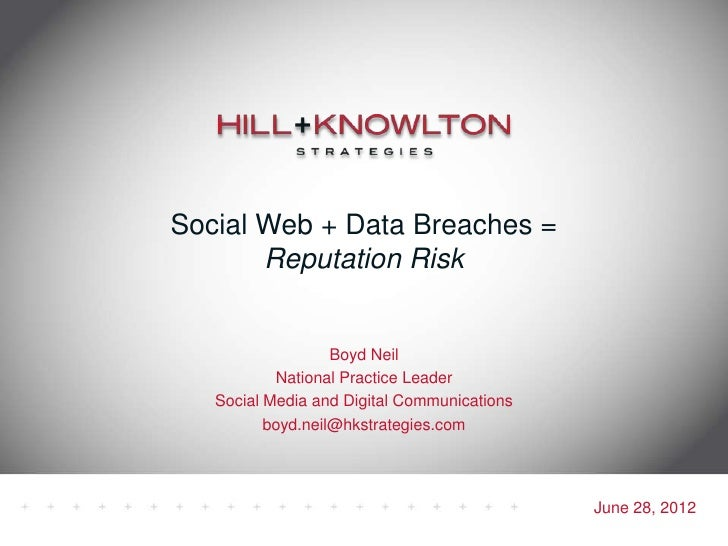 Data Breaches and the Social Web