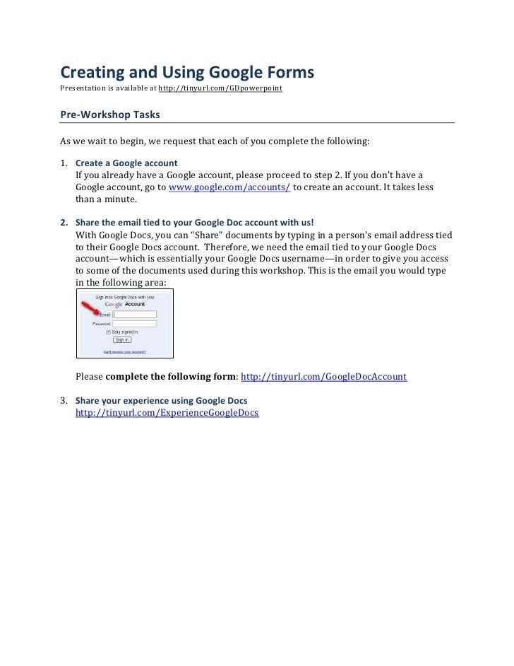 WCET 2009 Google Docs Handout