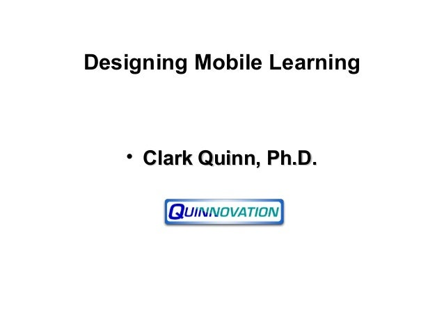 2010 Designing Mobile Learning
