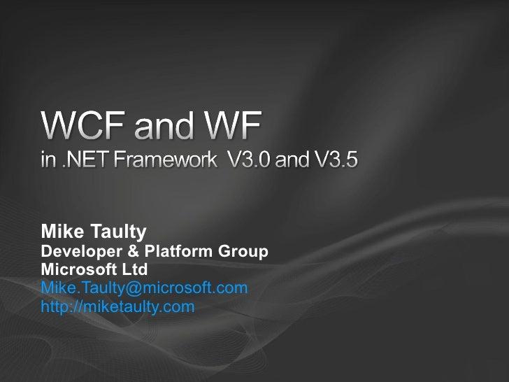 WCF and WF in Framework 3.5