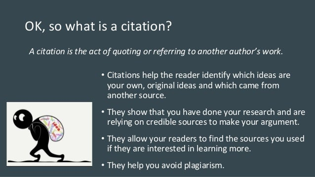 What is a citation!!! Help?