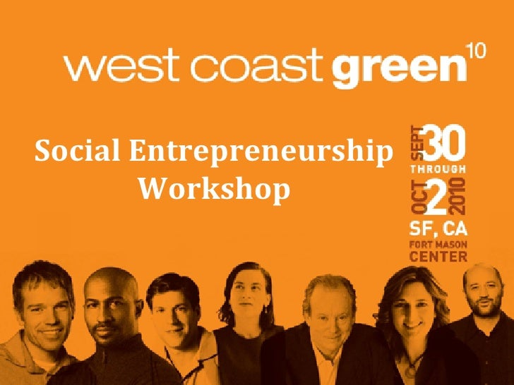 """SPECIAL EVENT Social Entrepreneurship Training: Developing Community Capital """"Beyond Sustainability"""""""