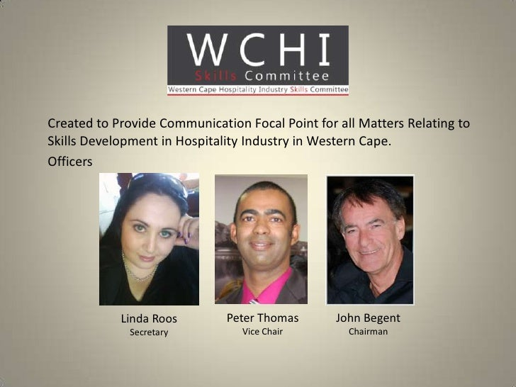 WCHI Skills Committee update to hospitality HR forum June 2012