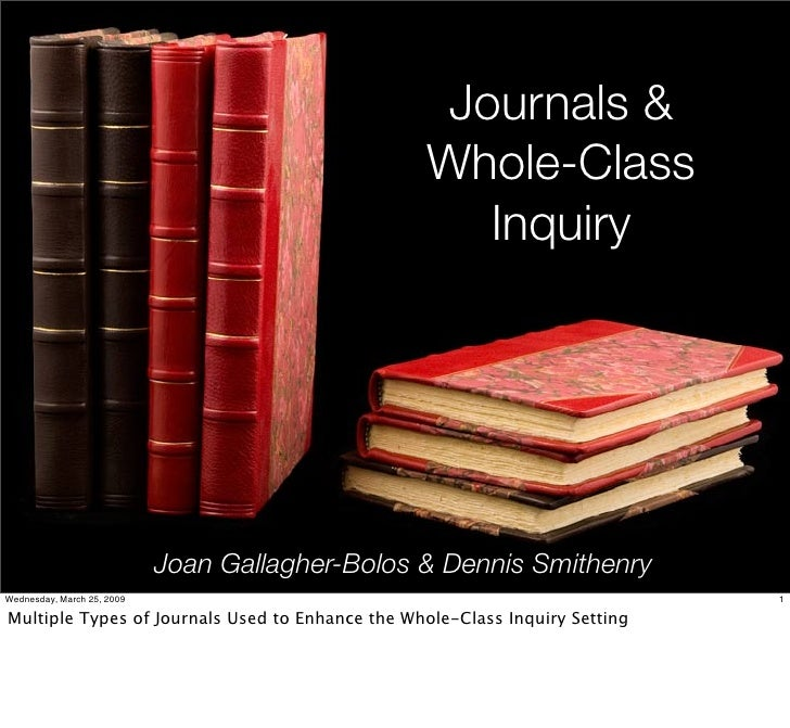 3/2009 Whole-Class Inquiry & Journals