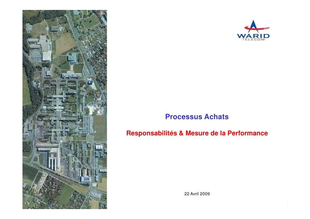 Processus Achats                                         Responsabilités & Mesure de la Performance                       ...