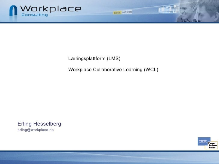 IBM Workplace Collaborative Learning