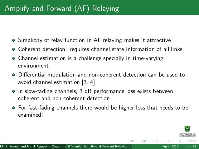 Amplify And Forward Relay Amplify-and-forward af