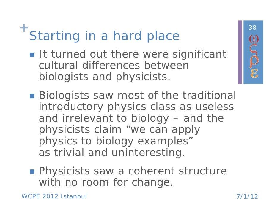 What's it like teaching biology?