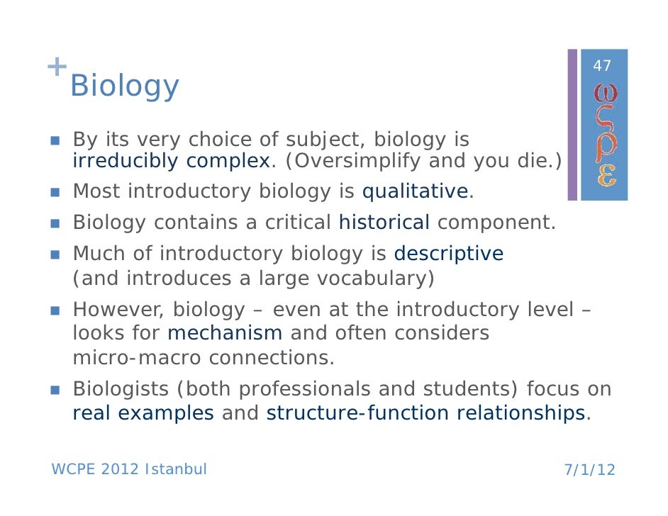 How introductory physics relates to biology?