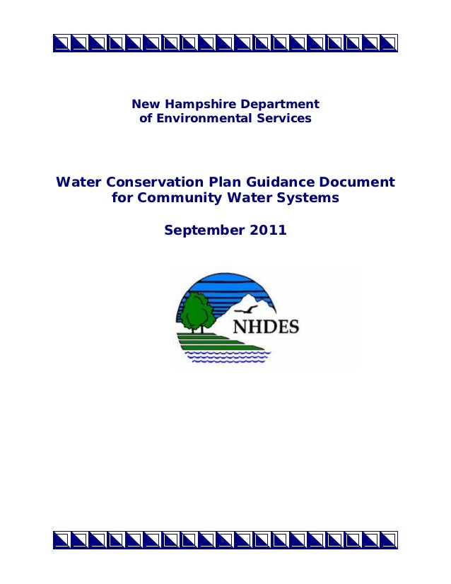 New Hampshire Water Conservation Plan for Community Water Systems