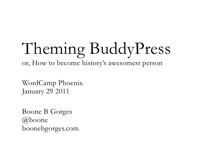 Theming for BuddyPress