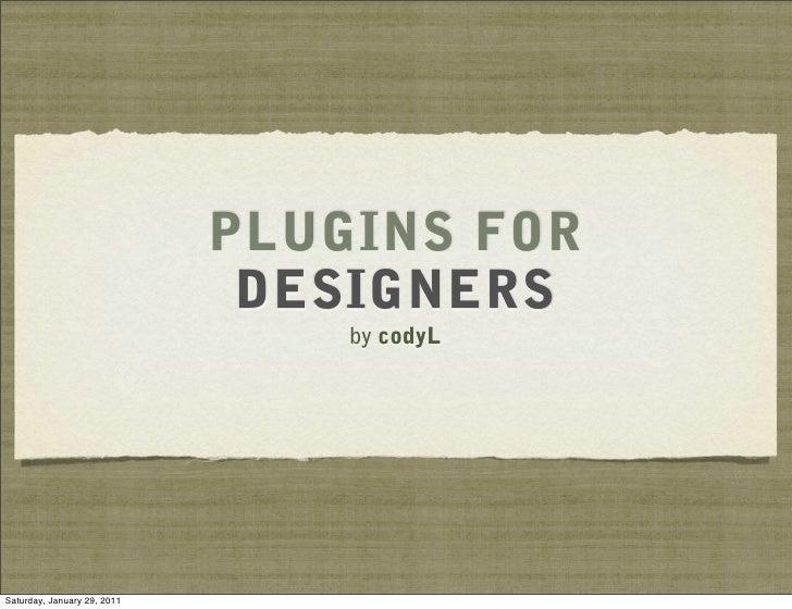 Wordcamp Phoenix - WordPress Plugins for Designers