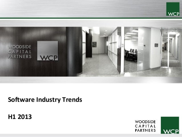 WCP Software Industry Trends H1 2013