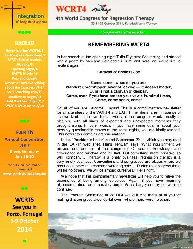 WCRT Newsletter Spring2012