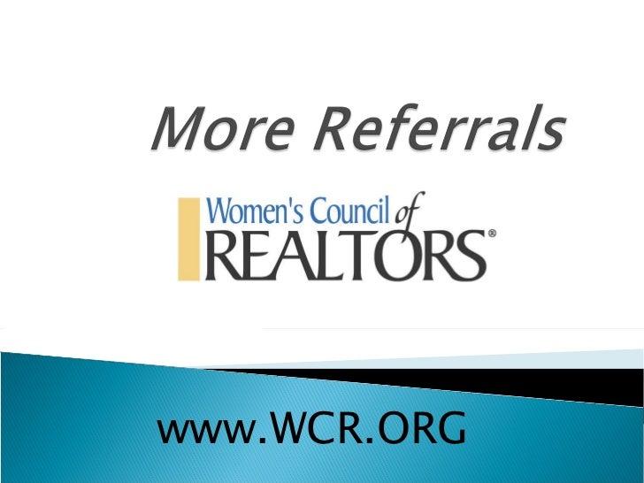 www.WCR.ORG