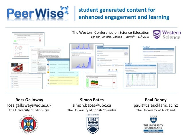 student  generated  content  for   enhanced  engagement  and  learning   Paul  Denny   paul@cs.aucklan...