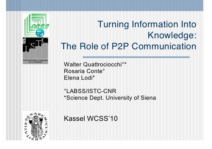 WCSS 2010 - Talk