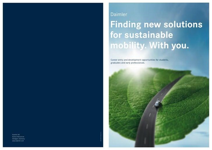 Daimler career booklet