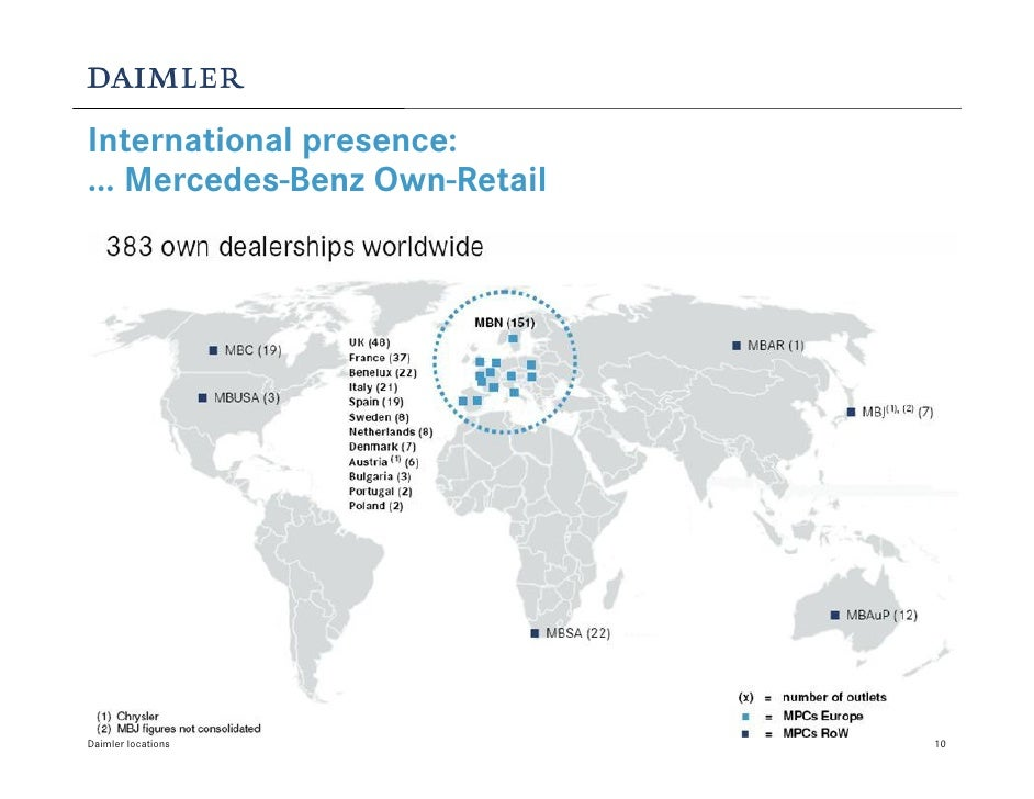 Daimler locations for Mercedes benz locations