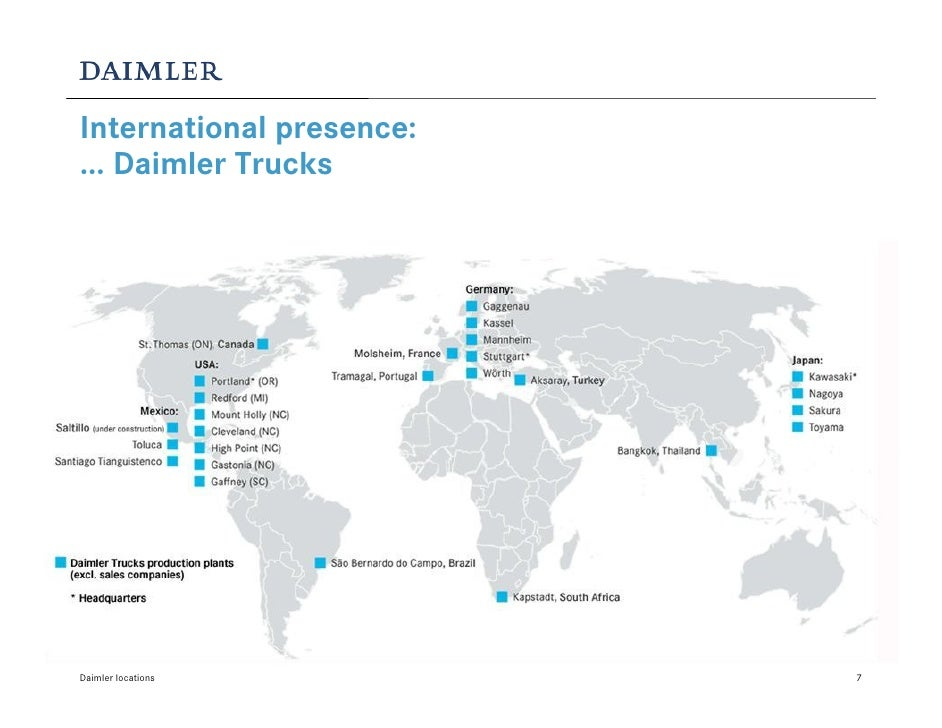 Daimler locations for Mercedes benz manufacturing plant in usa