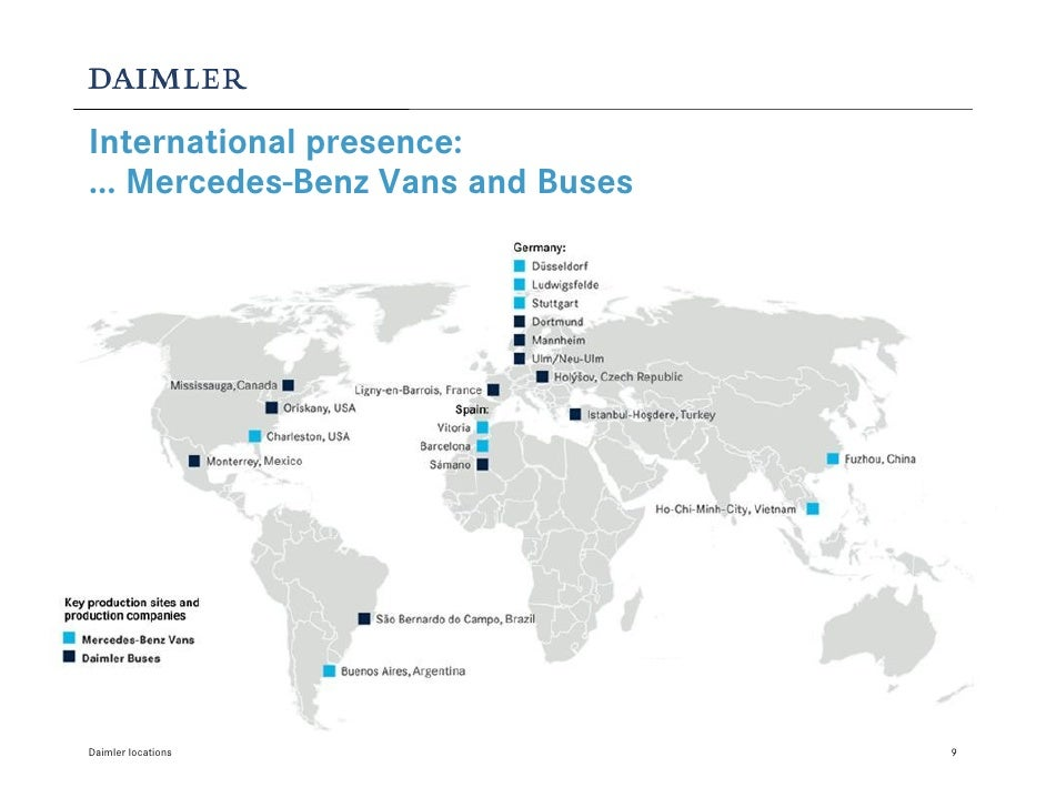 Daimler locations for Mercedes benz plant salary