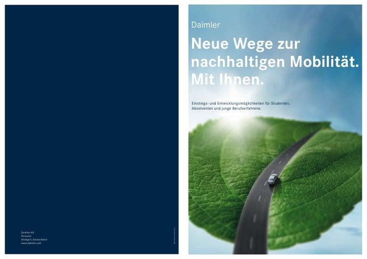 Daimler                                                 Neue Wege zur                                                nachh...