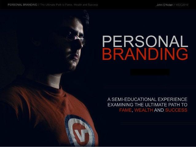 Personal Branding - WDC2010