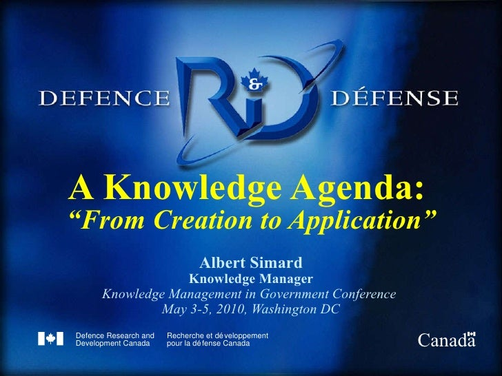 Knowledge Agenda