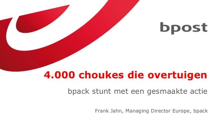 Marketing Day 2012: 4.000 choukes die overtuigen