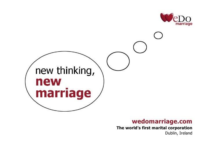 WeDo Marriage: New Thinking, New Marriage