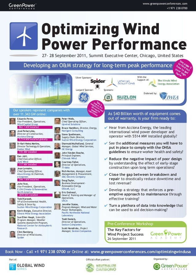 Optimizing Wind Power Performance
