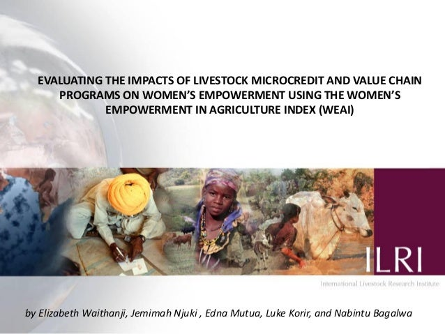 EVALUATING THE IMPACTS OF LIVESTOCK MICROCREDIT AND VALUE CHAIN     PROGRAMS ON WOMEN'S EMPOWERMENT USING THE WOMEN'S     ...