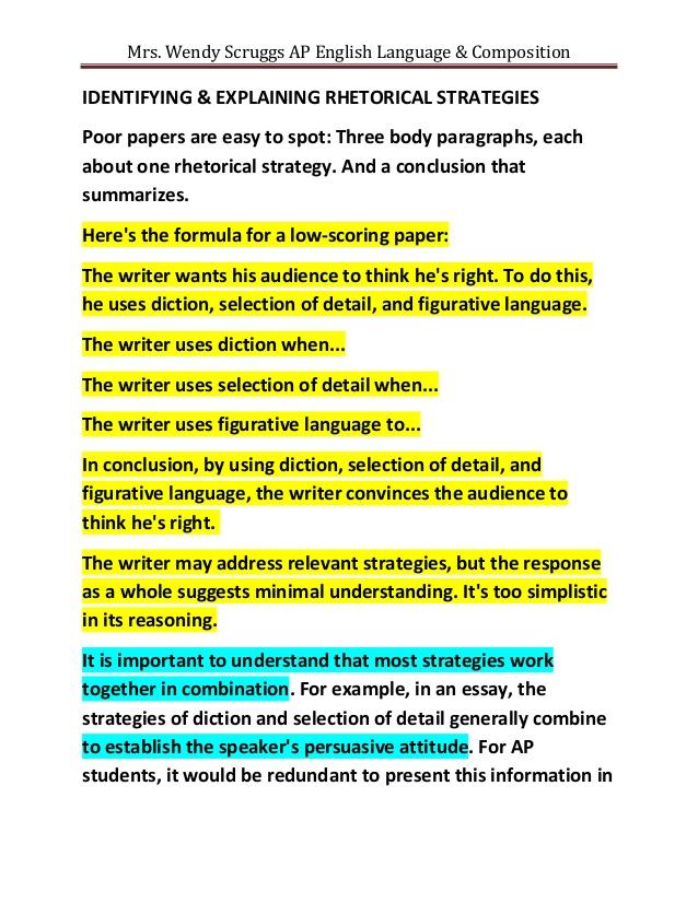 Rhetorical Essay Examples – Analysis Essay Example
