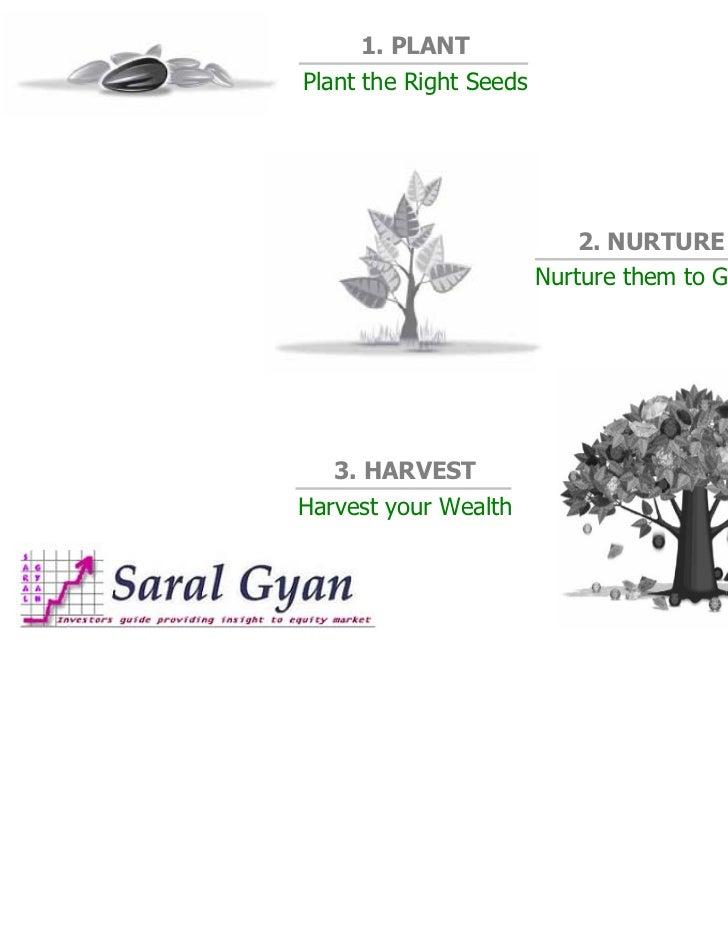 1. PLANTPlant the Right Seeds                           2. NURTURE                        Nurture them to Grow   3. HARVES...