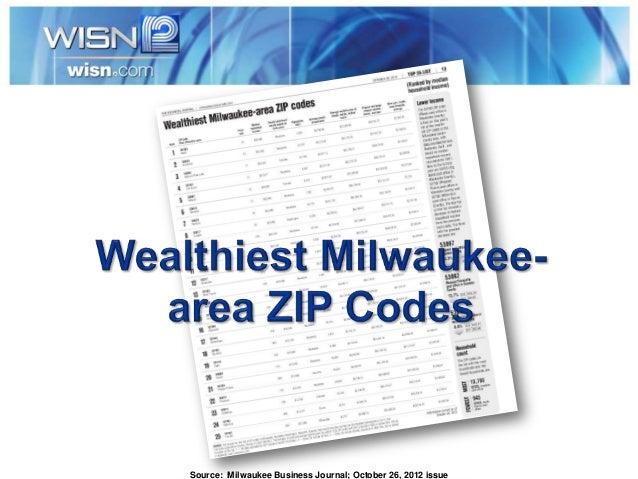 Milwaukee's Wealthiest Zip Codes Feb'13