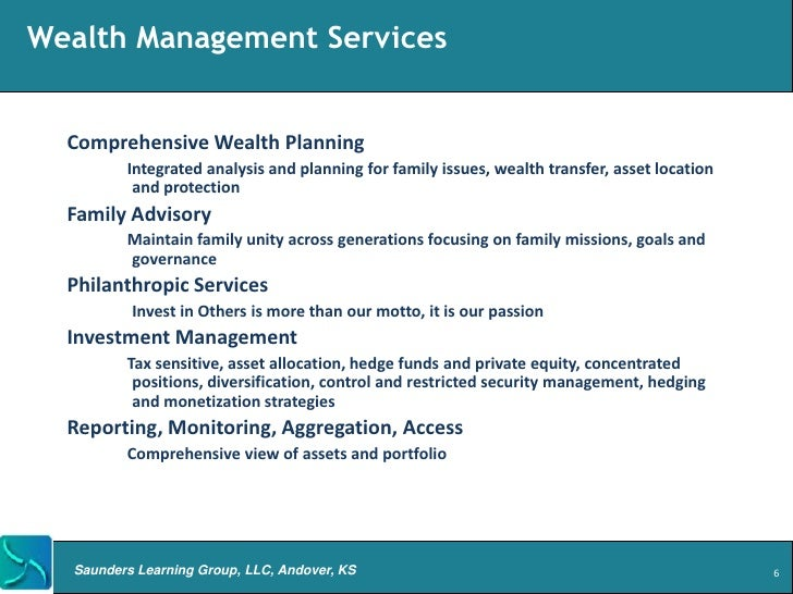 Overview of 10 Wealth Management Products