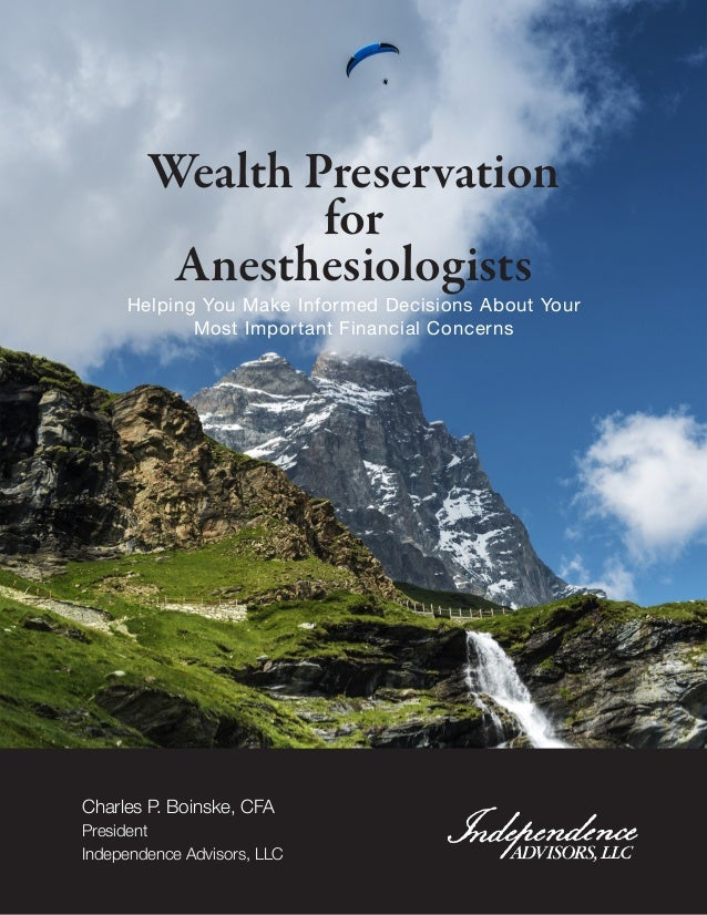 Wealth Preservation for Anesthesiologists